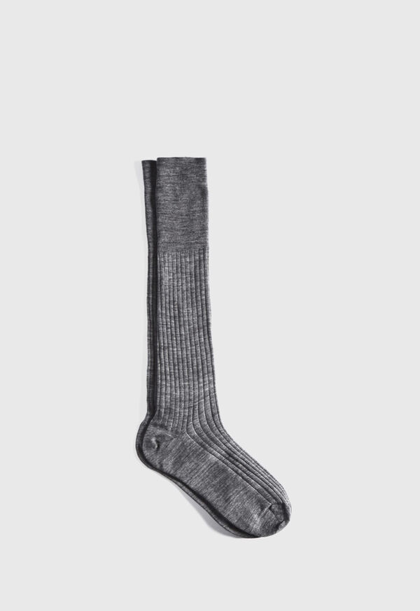 Wool and Cotton Blend Over the Calf Vanise Stripe Socks, image 1
