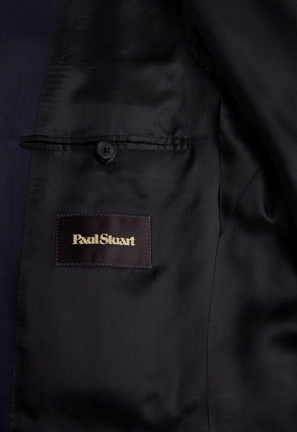 Solid Navy Silk Sport Jacket, image 5