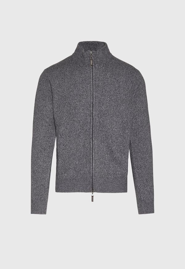 Full Zip Moulinee Cardigan, image 1