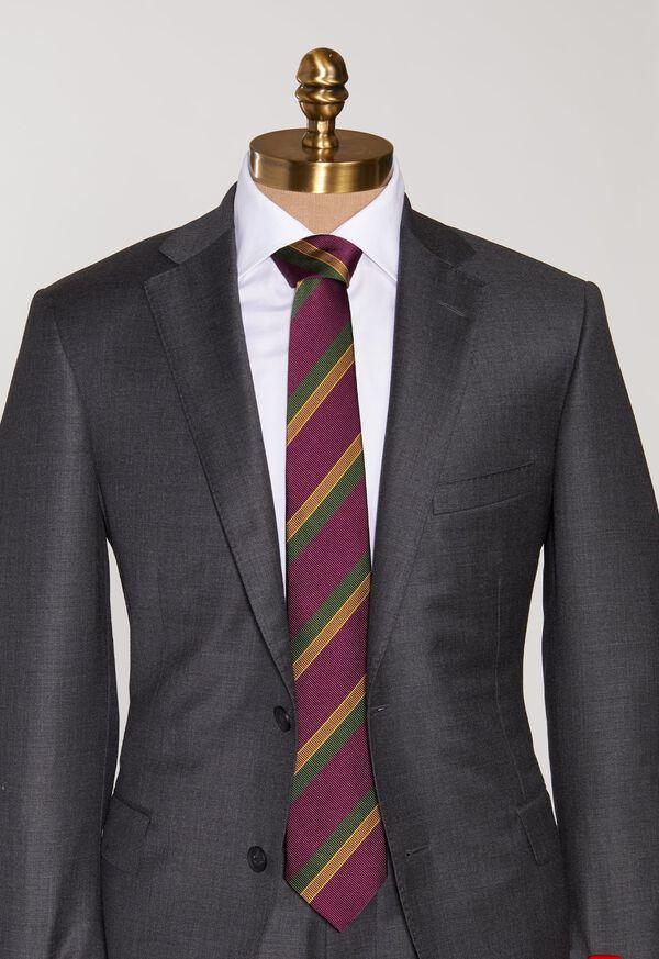 Tricolor Stripe Tie, image 2