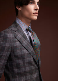 Grey Plaid Wool Suit, thumbnail 8