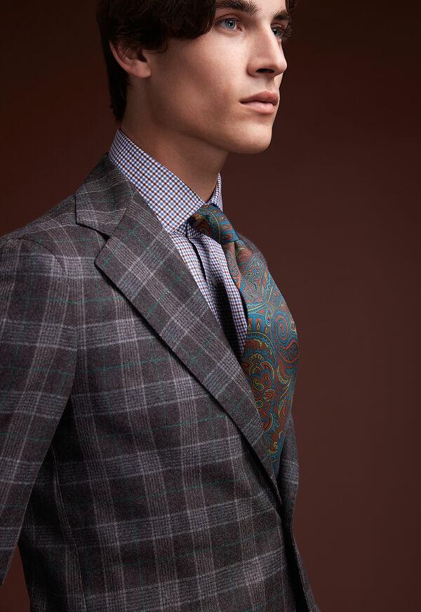 Grey Plaid Wool Suit, image 8