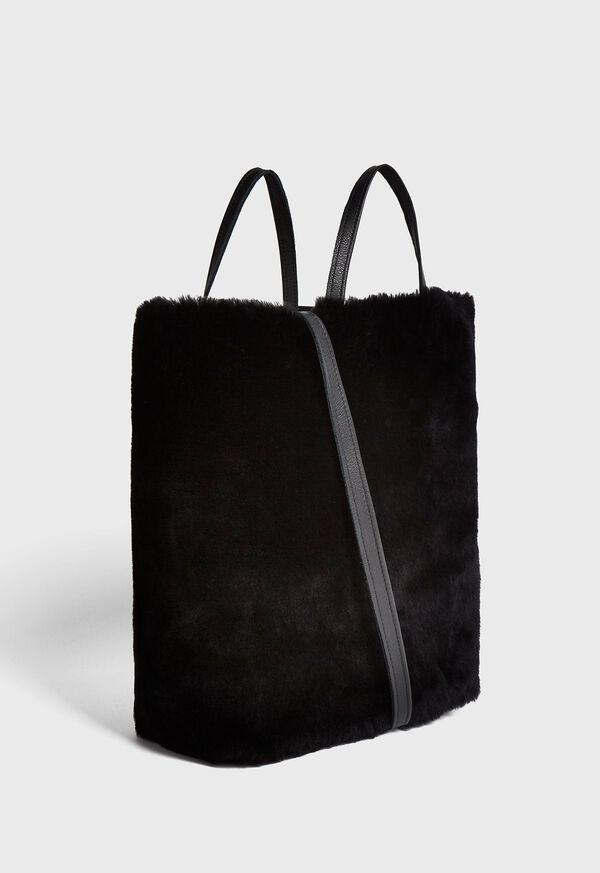 Shearling and Leather Handbag, image 3