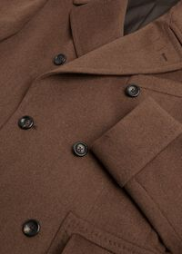 Vicuna Double Breasted Coat with Gauntlet, thumbnail 3