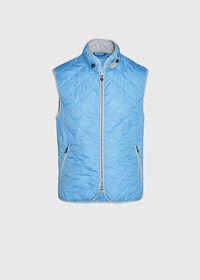 Quilted Nylon Vest with Wool Trim, thumbnail 1