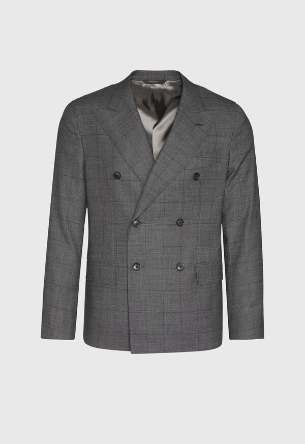 Grey Nailhead Double Breasted Suit, image 3