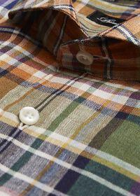 Linen Plaid Sport Shirt, thumbnail 2