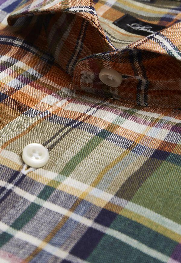Linen Plaid Sport Shirt, image 2