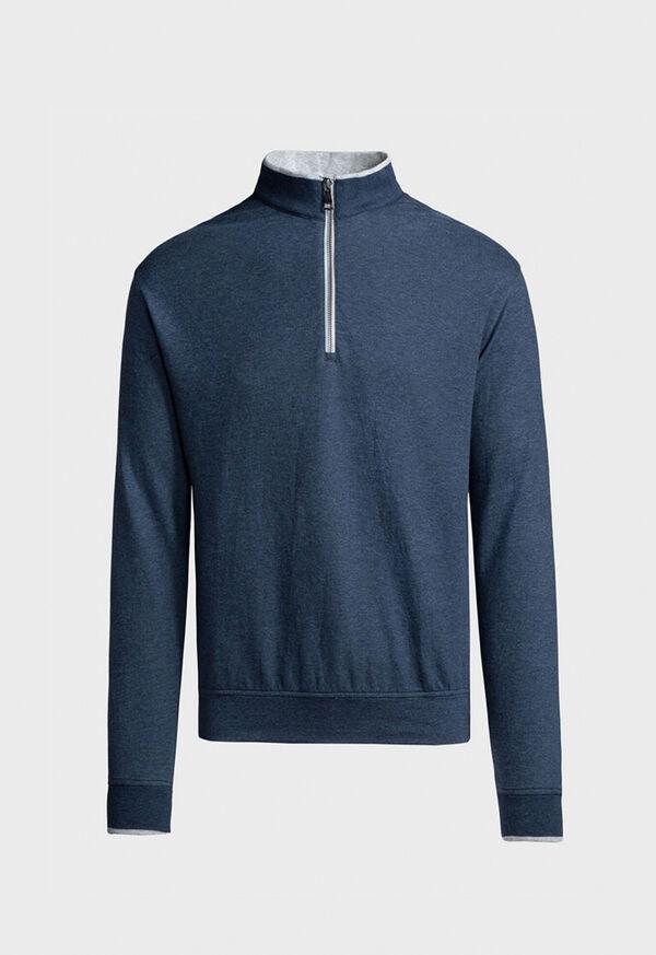 Pima Cotton Quarter Zip Pullover, image 1