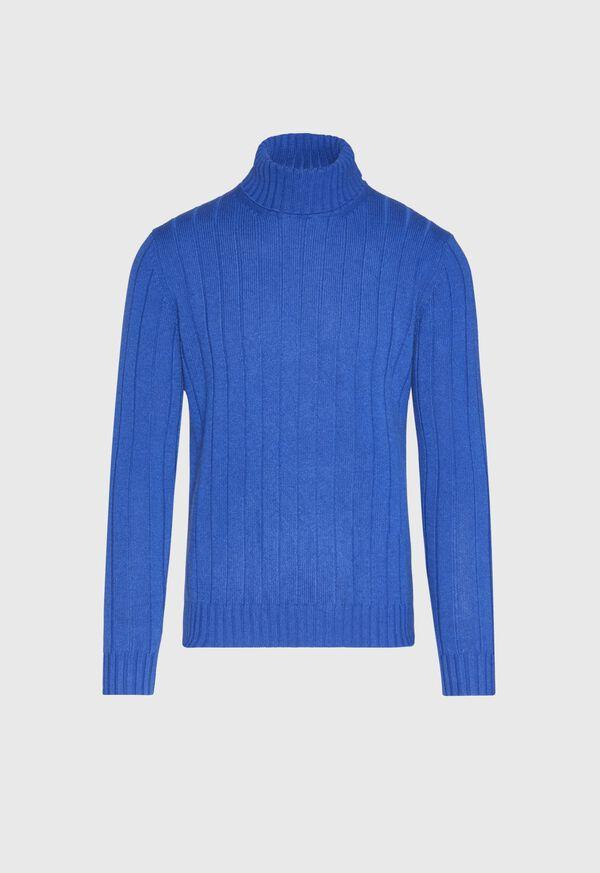 Cashmere Rib Turtleneck Sweater, image 1
