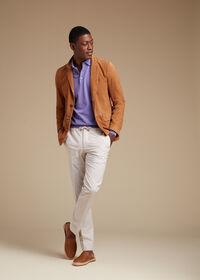 Long Sleeve Cotton Polo Shirt, thumbnail 3