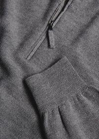 Rice Stitch Quarter Zip Sweater, thumbnail 2