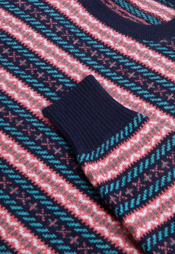 Fairisle Wool Crewneck Pullover, image 2
