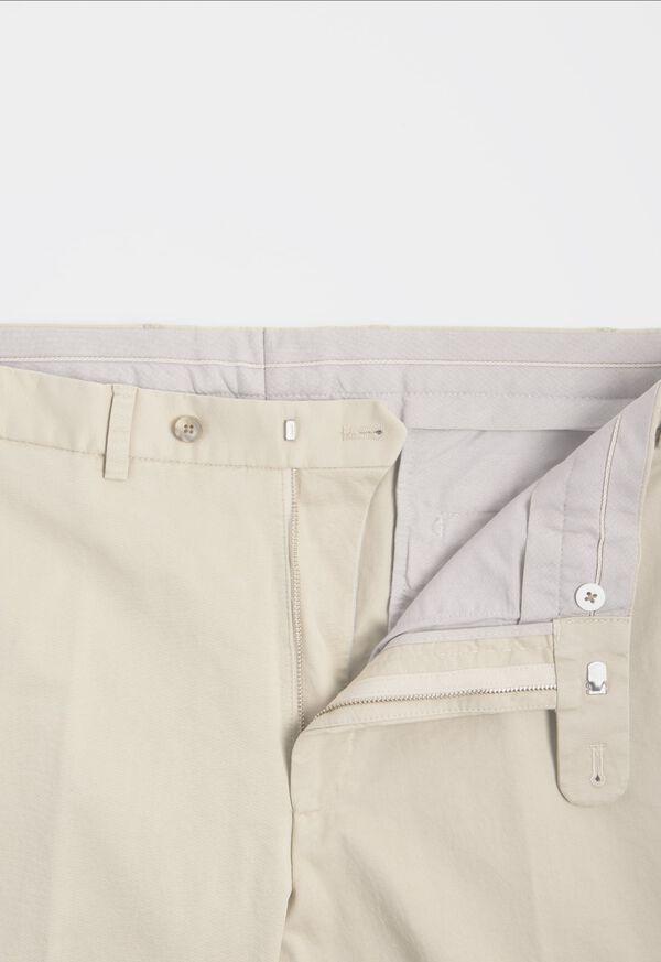 Khaki Cotton Stretch Newton Plain Front Pant, image 2