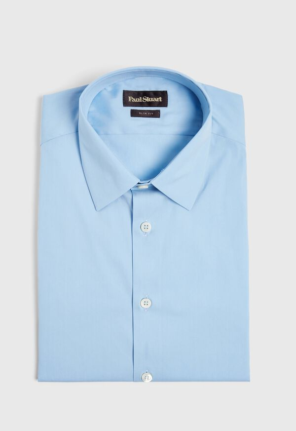Slim Fit Poplin Stretch Dress Shirt, image 1