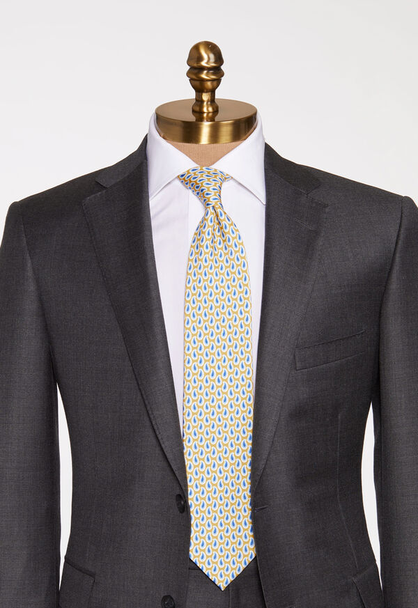 Allover Pine Silk Tie, image 2