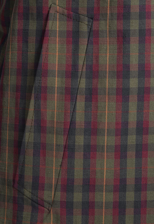 Plaid Trench Coat, image 4
