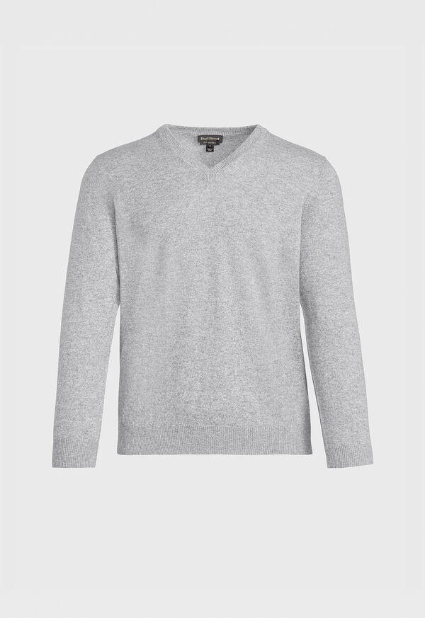 Lightweight Cashmere V Neck Sweater, image 1