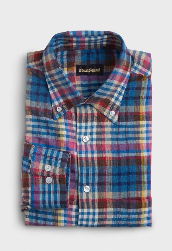Plaid Cotton Flannel Sport Shirt