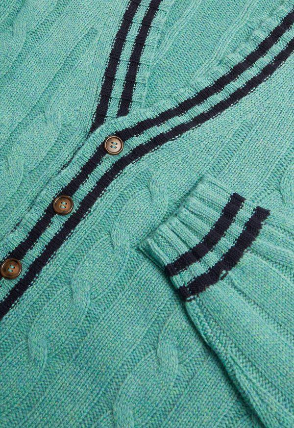 Cashmere Varsity Cardigan, image 2