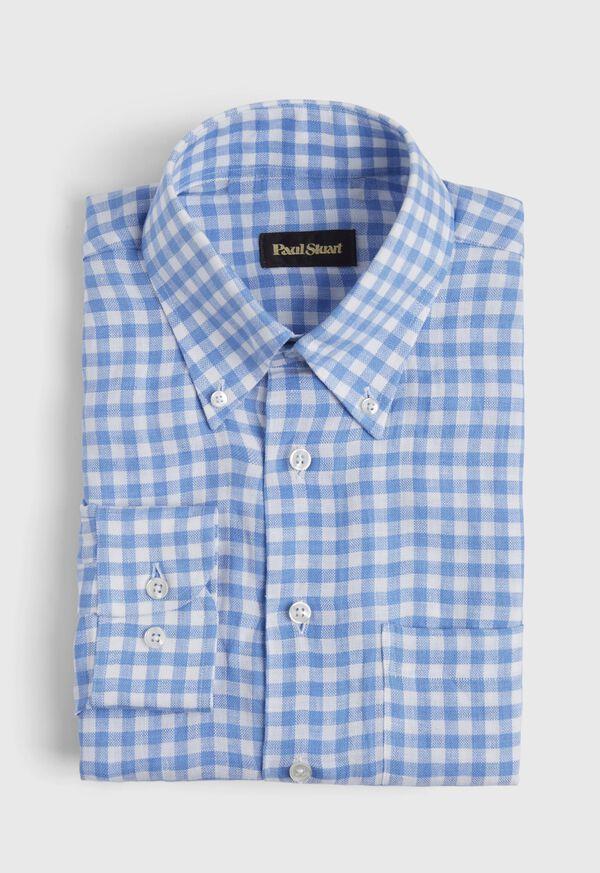 Linen Oxford Gingham Sport Shirt