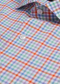 Cotton Seersucker Plaid Sport Shirt, thumbnail 2