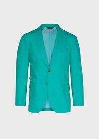 Green Cotton Blend Denim Jacket, thumbnail 1