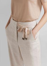 Linen Pant with Grossgrain Belt, thumbnail 3