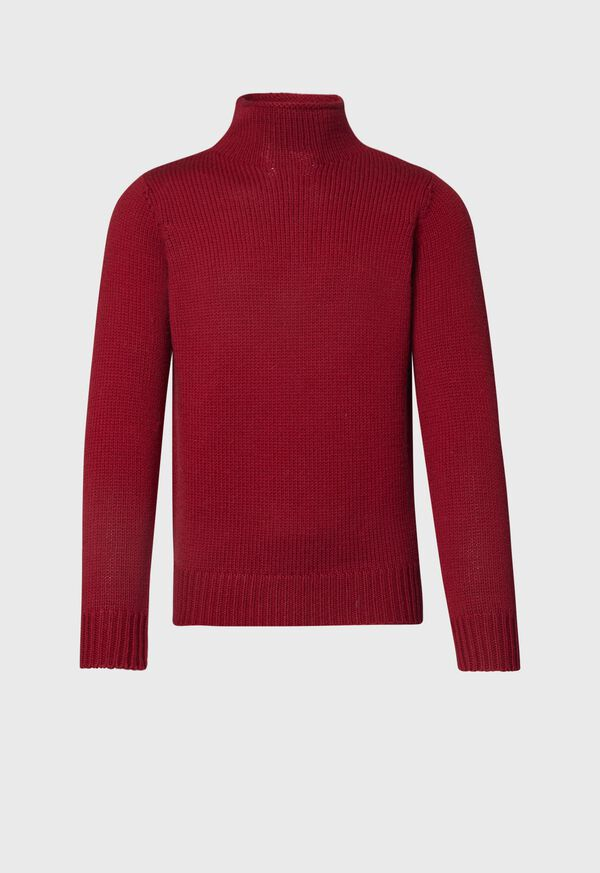 Solid Color Mock Neck Sweater