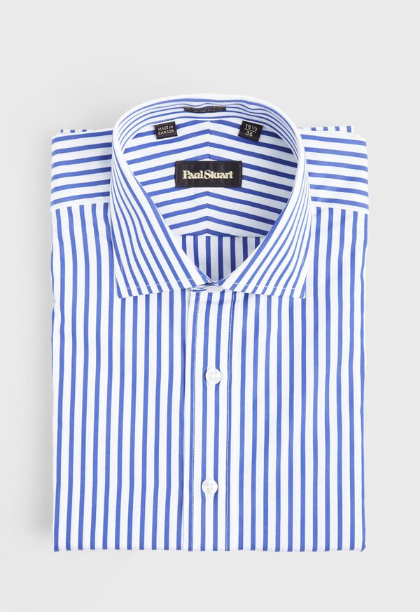 Slim Fit Blue Bold Bengal Stripe Dress Shirt