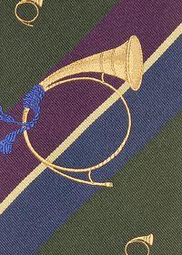 Bugle Motif Stripe Silk Tie, thumbnail 3