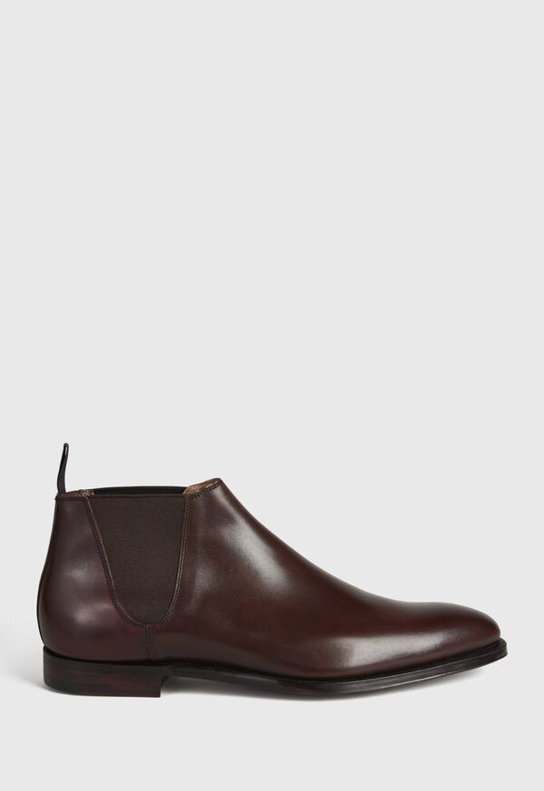 Chestnut Leather Half Chelsea Boot