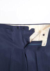 Navy solid Silk Blend Suit, thumbnail 6