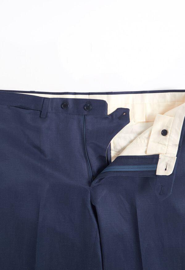 Navy solid Silk Blend Suit, image 6
