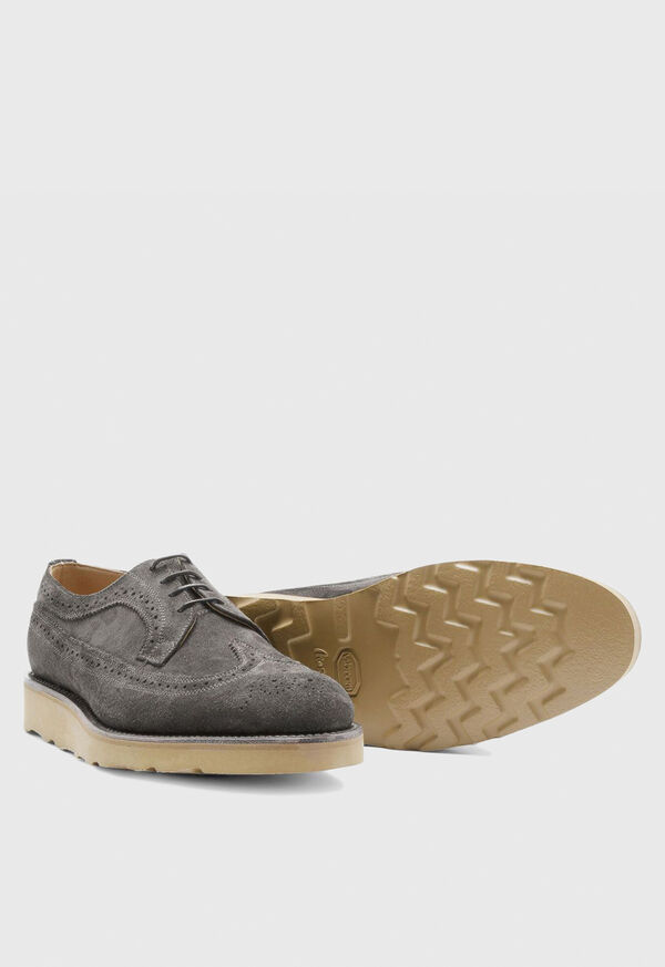 Monaco Suede Wingtip Lace-Up, image 4
