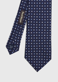 Two Color Circle Silk Tie, thumbnail 1
