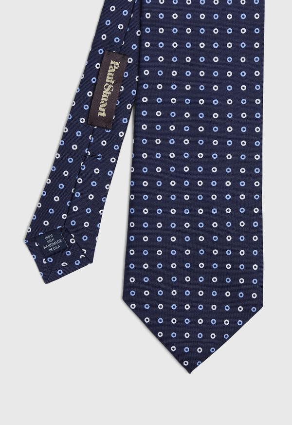 Two Color Circle Silk Tie, image 1