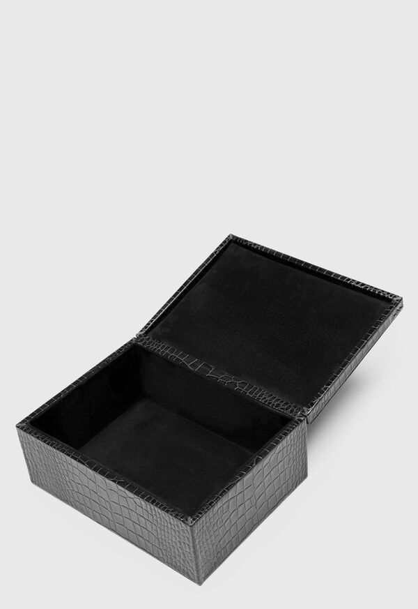 Embossed Leather Jewelry Box, image 2