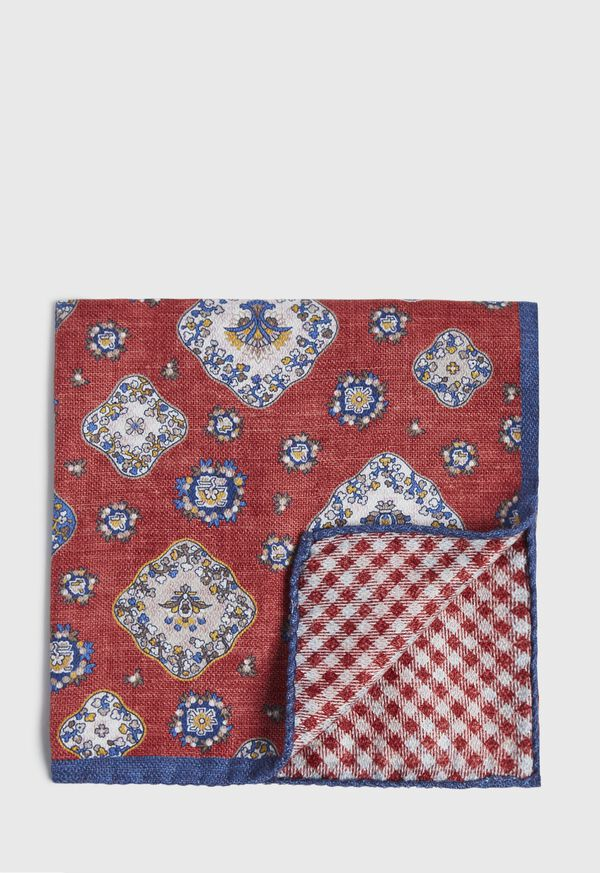 Double Printed Medallion Pocket Square, image 1