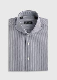 Black and White Stripe Dress Shirt, thumbnail 1