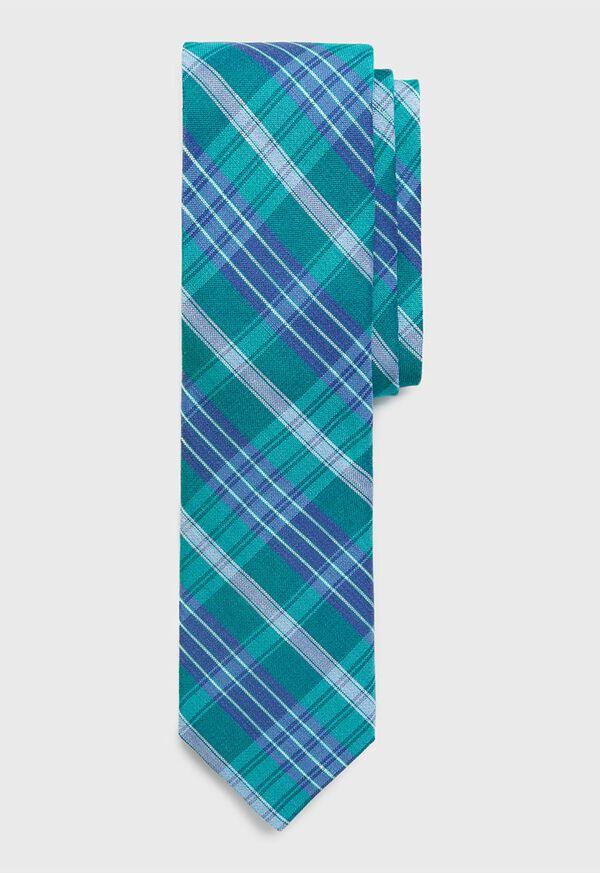 Plaid Silk Tie, image 1