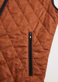 Merino Wool Flannel Quilted Vest, thumbnail 3