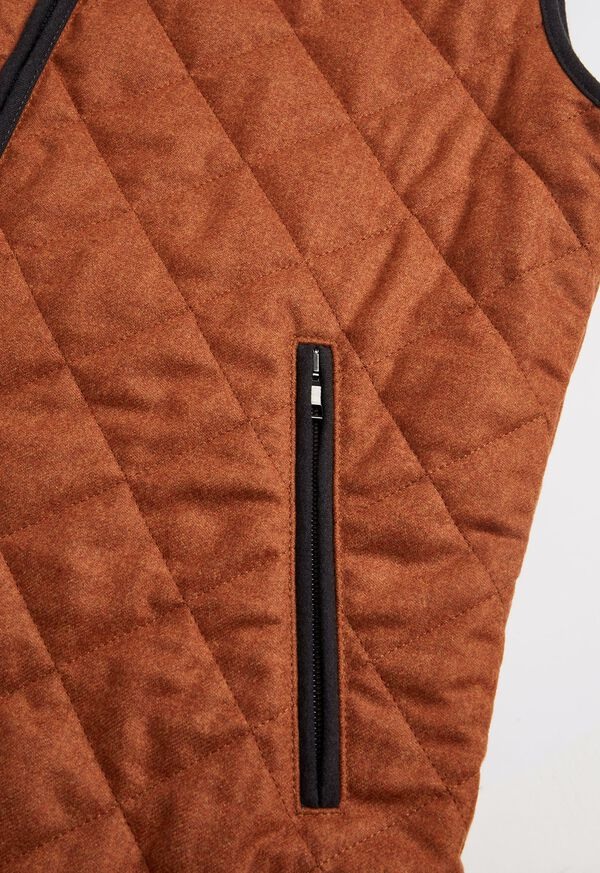 Merino Wool Flannel Quilted Vest, image 3
