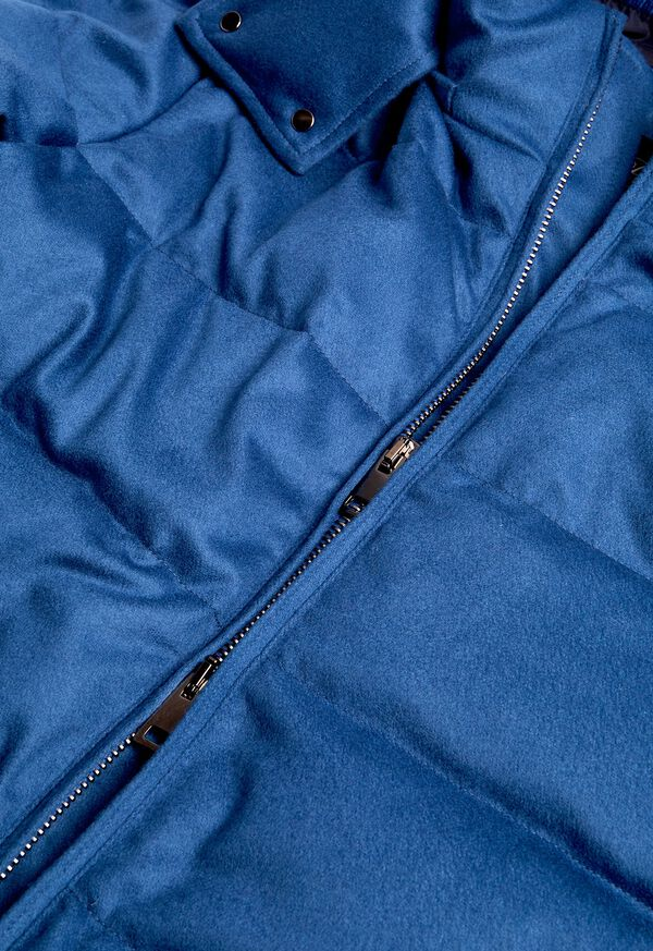 Cashmere Quilted Down Puffer Jacket, image 8