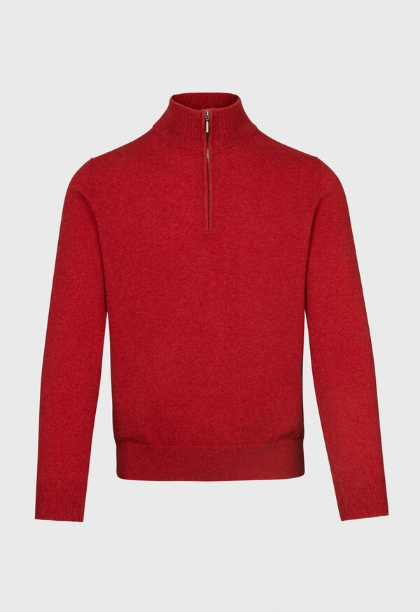 Cashmere Single Ply 1/4 Zip Sweater