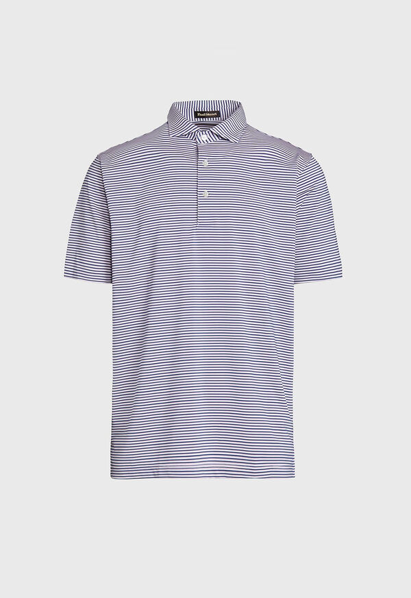 Multi Color Stripe Performance Polo, image 1