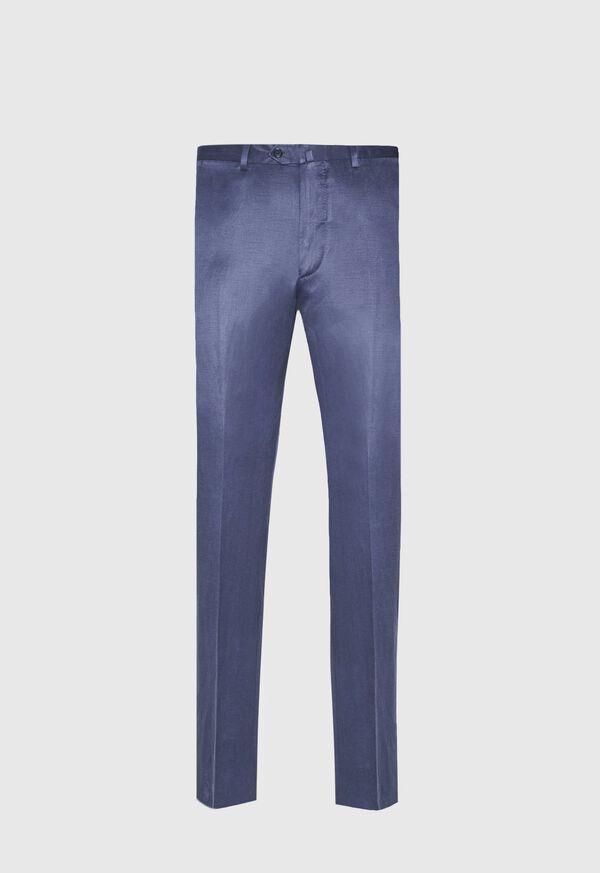 Navy solid Silk Blend Suit, image 5
