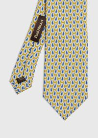 Allover Pine Silk Tie, thumbnail 1