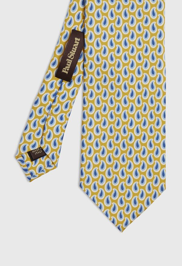 Allover Pine Silk Tie, image 1