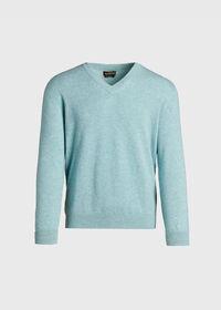 Scottish Cashmere V-Neck Sweater, thumbnail 8